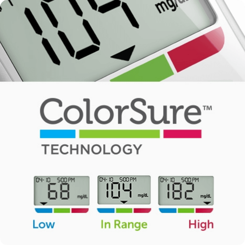OneTouch Verio Flex® meter with ColorSure™ Technology
