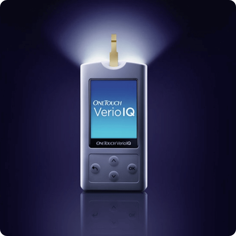OneTouch Verio IQ® Meter Illuminated Test Strip Port