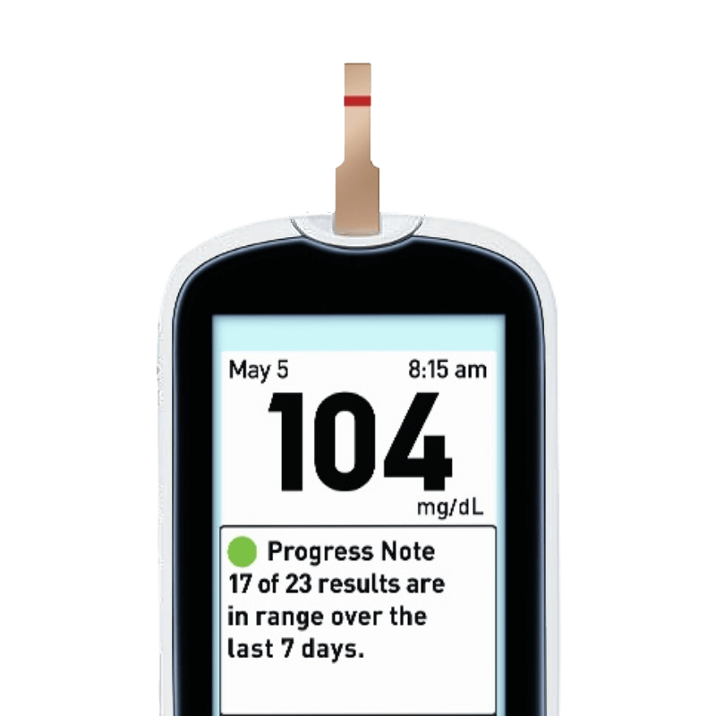 OneTouch Verio® meter Progress Note