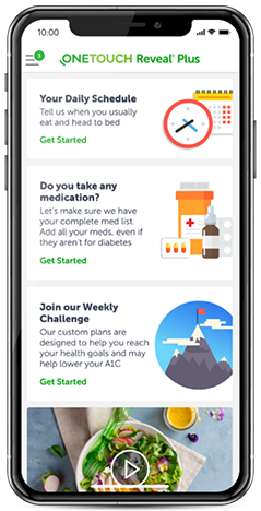 OneTouch Reveal® Plus Mobile Diabetes Coaching App