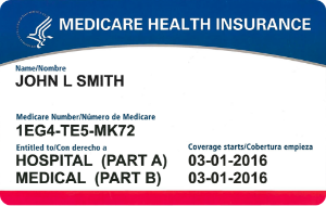 Medicare Example Health Insurance Card