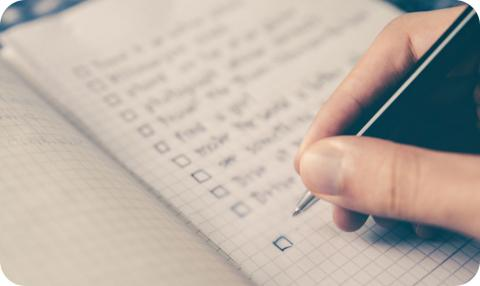 Creating a Written Checklist