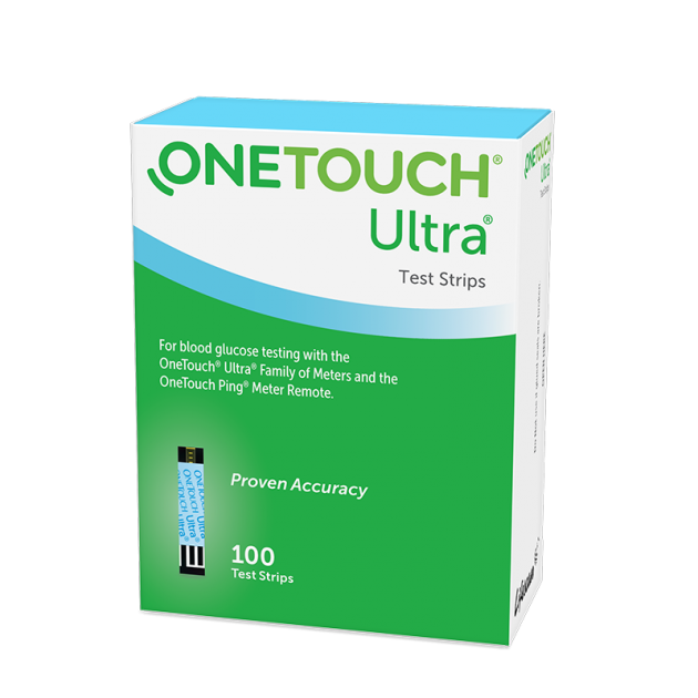 OneTouch Ultra® test strips box perspective