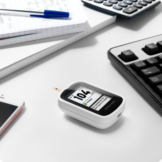 OneTouch Verio® meter on work desk