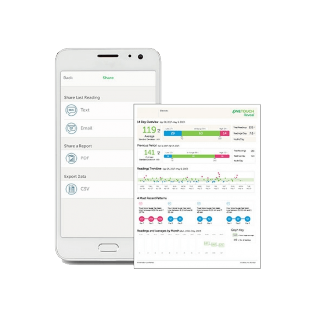 OneTouch Reveal® mobile app reporting